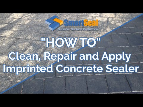 How to clean, repair, re-colour and apply sealer to Patterned Imprinted Concrete