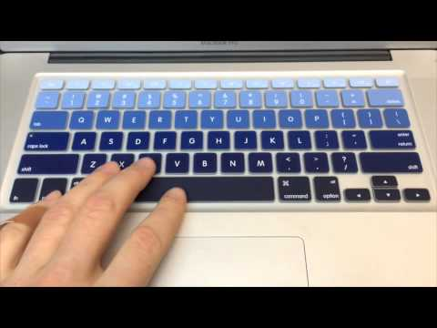 Blue Multicolor Silicone Keyboard Cover
