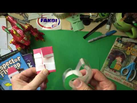 How to make an EZ Origami Santa Claus puppet, the Origami Yoda way!