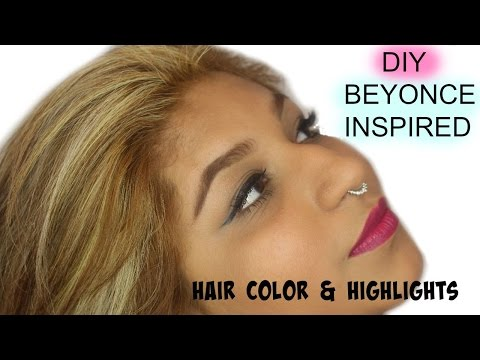 DIY BEYONCE INSPIRED HAIR COLOR AND HIGHLIGHTS