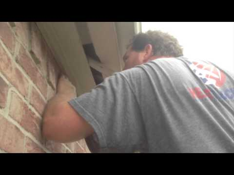 How to retrofit a house that has strip vents for soffit vents with Attic Baffles