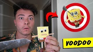 DO NOT MAKE A SPONGEBOB VOODOO DOLL AT 3AM!! (I DID THIS TO IT)