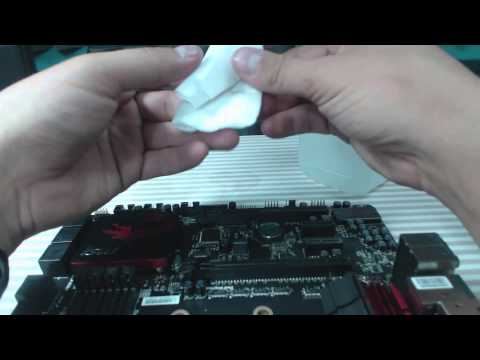 How to clean thermal paste off of a CPU/APU with house held items