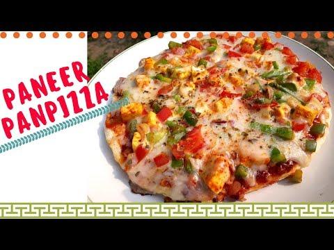 PanPizza Recipe in HINDI   Homemade Pizza Recipe   Tawa Pizza   How to make Pizza at home in HINDI
