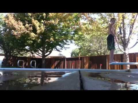 How to do a backflip off diving board
