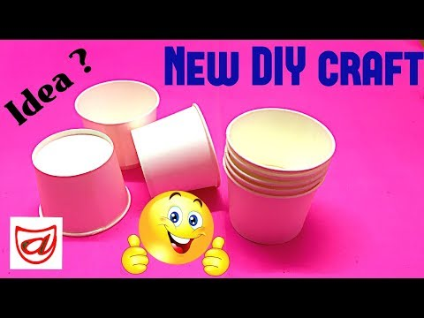New DIY crafts Ideas from Disposable Paper Cup 🏘🏘 | Arts and craft - Disposal glass decor