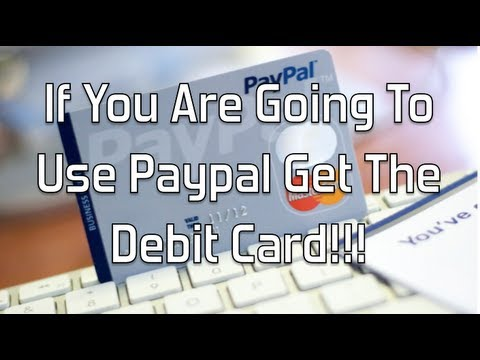 If You Are Going To Use Paypal Get The Debit Card!!!! Glendon Cameron