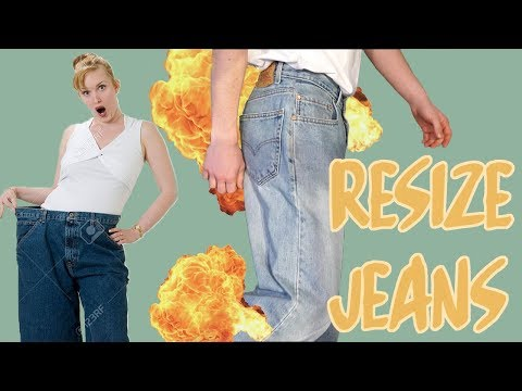 How to SEAMLESSLY downsize jeans
