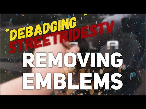 EASY WAY!! HOW TO REMOVE EMBLEMS DEBADGING YOUR CAR Removing Car Emblem Badges