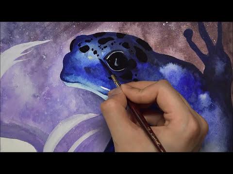 [Watercolor] Dart Frogs - 1 Hour