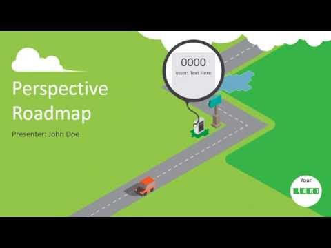 Animated PowerPoint Roadmap Presentation Template like never before!