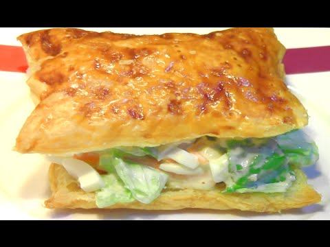 Prawn Salad Puff Pastry Sandwich