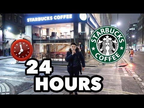 24 HOUR OVERNIGHT In STARBUCKS FORT!
