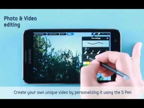 Samsung Galaxy Note 2 Photo & Video editing