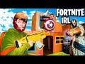 FORTNITE Box Fort Vs THANOS Avengers Endgame NERF Battle IRL