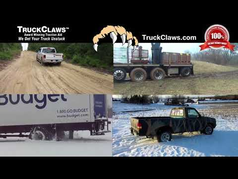 How do I get my truck out of snow, ice, mud or sand?