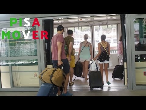 Taking the Pisa Mover from Pisa Airport to Pisa Central Station
