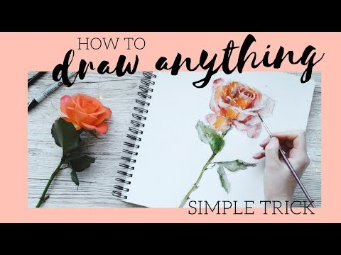 HOW TO DRAW a Rose | Simple Hack to Draw ANYTHING!