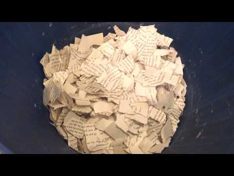 HOW TO MAKE PAPER | RECYCLED BOOK PAGES