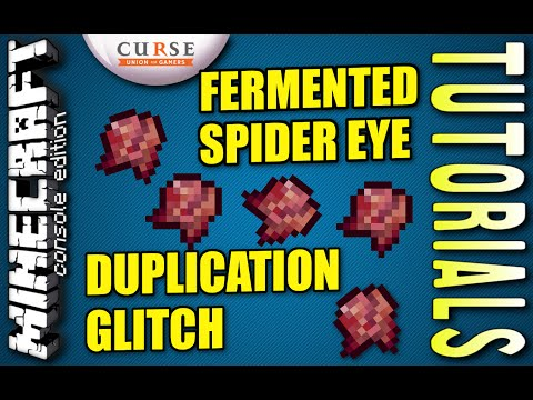 MINECRAFT - PS4 - FERMENTED SPIDER EYE DUPLICATION GLITCH - HOW TO - TUTORIAL ( PS3 / XBOX )