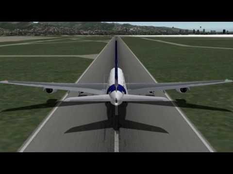 Airbus A380 Takeoff - Honolulu Intl
