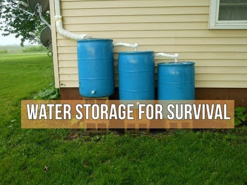 Water Storage For Survival