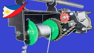 Diy Electric Hoist Using Bicycle Parts And Wiper Motor