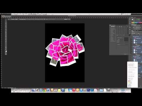 PS CS6 Polaroid Collage Tutorial