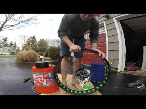 Fat Bike Tubeless Tires with Duct Tape and Gorilla Tape How To DIY Install