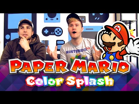 REACTION - Paper Mario Color Splash Wii U