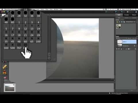 Photoshop Elements Tutorials- Make a Copyright Watermark Brush.