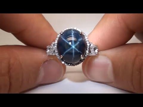 Vintage Estate Art Deco Genuine Star Sapphire & Diamond Ring eBay Auction
