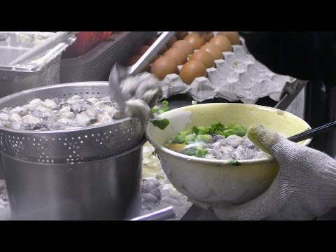Hong Kong Street Food. The Fried Oysters Cake