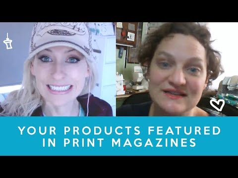 Ruth's handmade products featured in a magazine - how to start a handmade business, etsy shop
