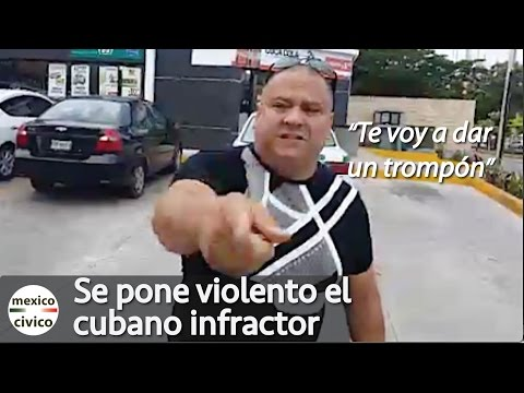 Cubano infractor se pone violento en Cancun | Poder Anti Gandalla Cancun