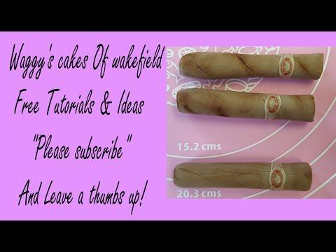 Making gumpaste fondant cigars cake toppers