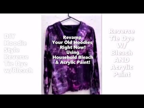 Reverse Tie Dye & Acrylic Paint Sweatshirt or Hoodie- DIY Style