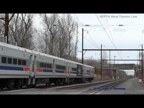 SEPTA Test Train with Amtrak ACS-64 664 March 5 2016