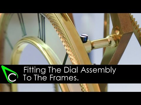 How To Make A Clock In The Home Machine Shop - Part 15 - Fitting The Dial Assembly To The Frames
