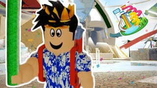 I WENT TO A WATERPARK AWAY FROM BLOXBURG... I pushed people into pools