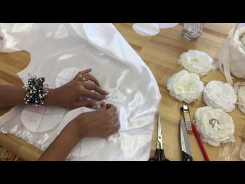 DIY Fabric Flower Tutorial, Natalie Hemmens