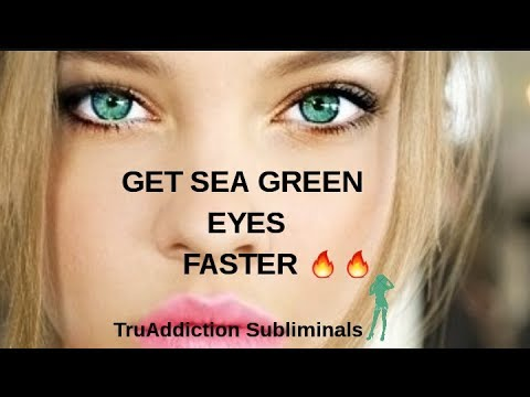 GET BEAUTIFUL SEA GREEN EYES FASTER NOW (NEW FORMULA)~TruAddiction Subliminals💋