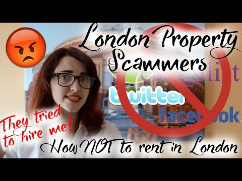 Recruitment & Rent SCAMS in London | BEWARE!