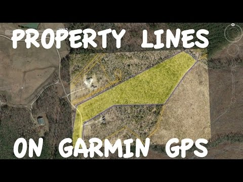 Garmin GPS Property Lines from Google Earth with Garmin BaseCamp
