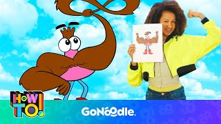 HOW TO Draw Bart Reynolds - How To! | GoNoodle