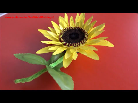 Beautiful Sunflower from Paper Cups ~ DIY ~ Flower Making Ideas ~ Instructions / Tutorial ...