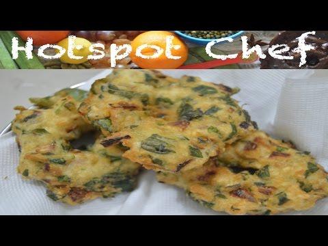 KEERAI VADAI (AMARANTH LEAVES VADA) - South Indian Recipe