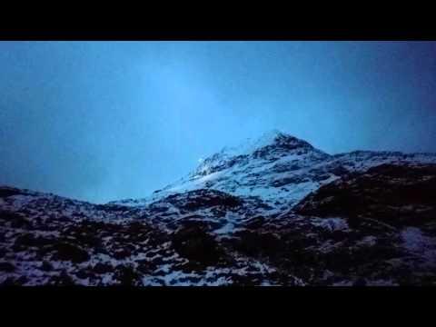 Snowdonia mountain  rescue helicopter, crib coch