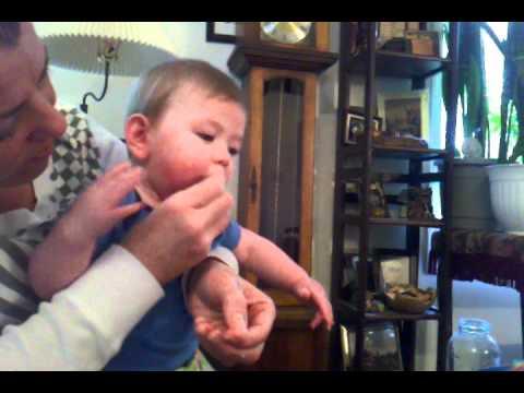 Jackson eats a french fry hehe