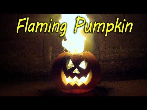 How to Make a Flaming Pumpkin - Halloween Jack o Lantern